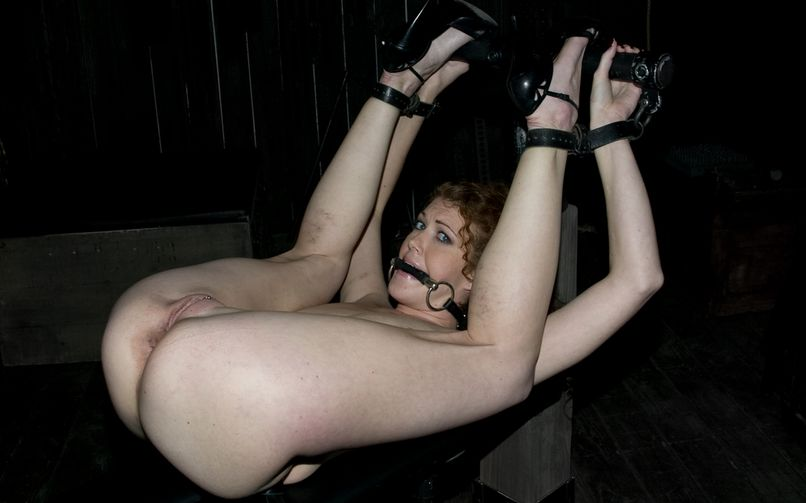 BDSM girl is having her pussy..