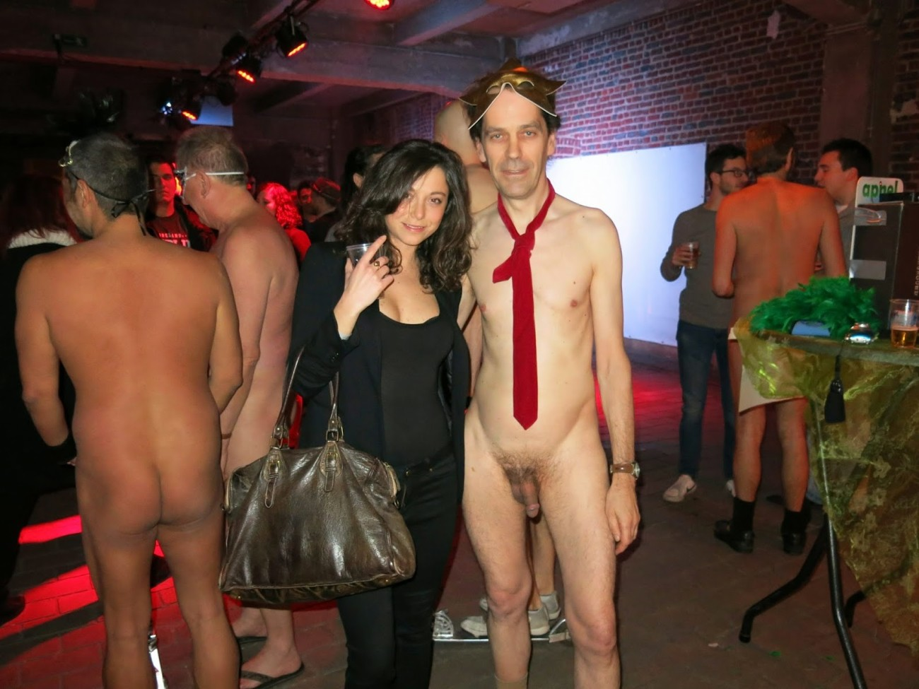 CFNM Clothed Female Naked Male,..