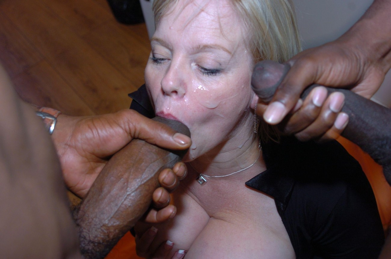 Photo shared wife takes two big cocks in mouth and pussy
