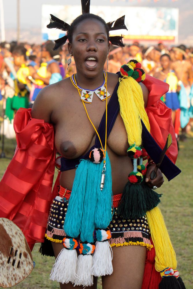 Real tribal african girls topless..