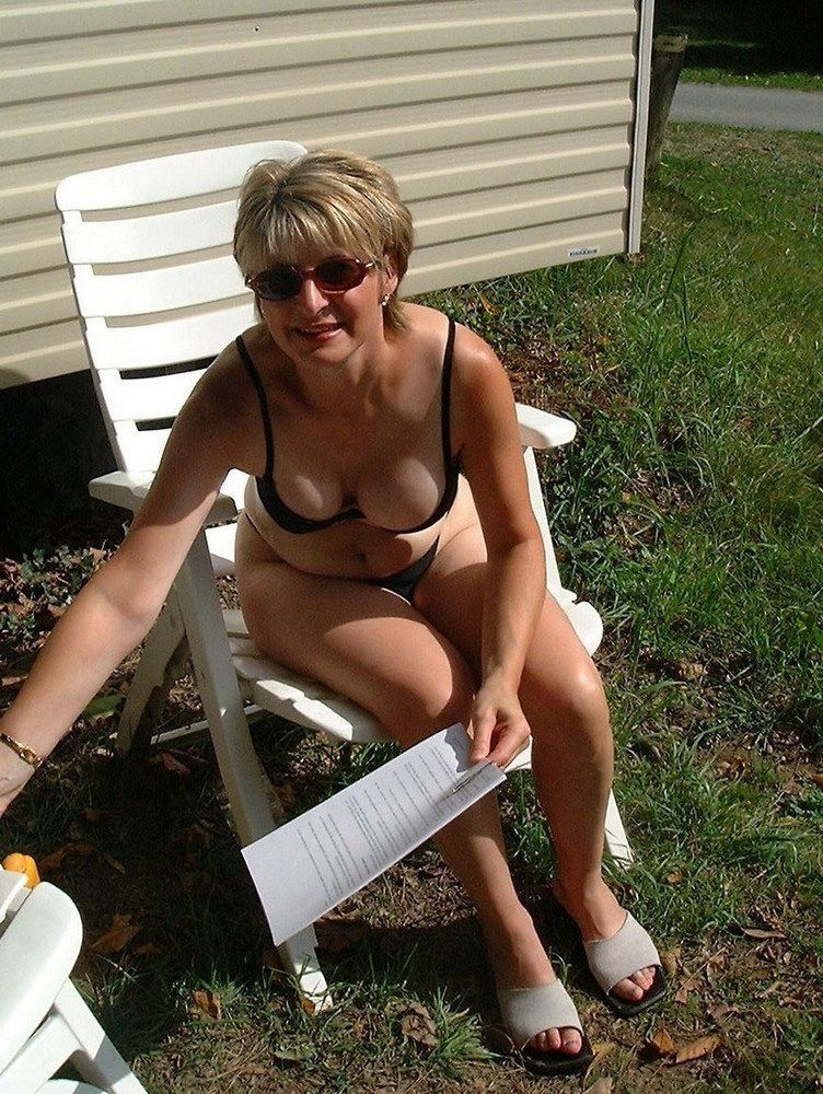 Almost naked mature wives in..